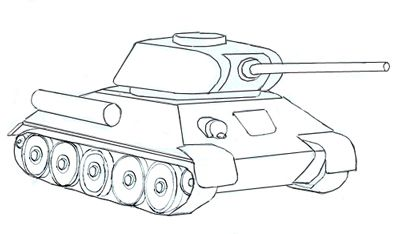 How to draw an army Tank step