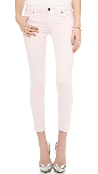 Genetic Denim Brooke Cropped Skinny Jeans. Subtle, but the petal color is perfect for a valentines day outfit!