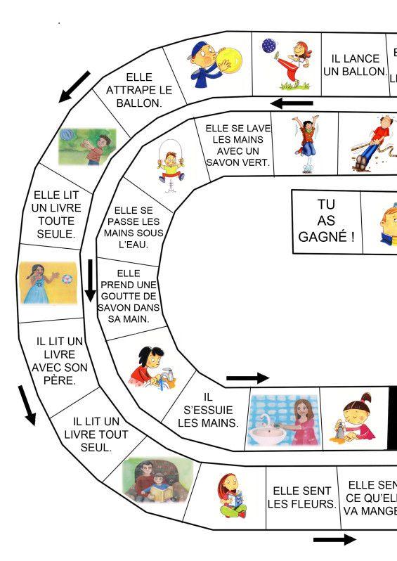 Sur cette page, je vais présenter quelques jeux de lecture que j'ai fabriqués pour mes élèves à partir des jeux de l'oie téléchargés sur le site de Moustache (site indispensable pour tous les enseignants de maternelle) ici La règle de ces jeux est simple....