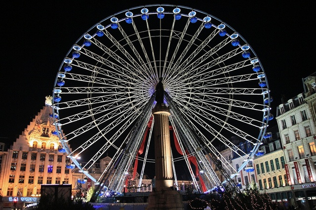The wheel at Lille Christmas market