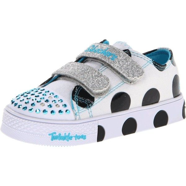 Skechers Kids Twinkle Toes-Round Trips Sneaker (Toddler) ❤ liked on Polyvore featuring shoes