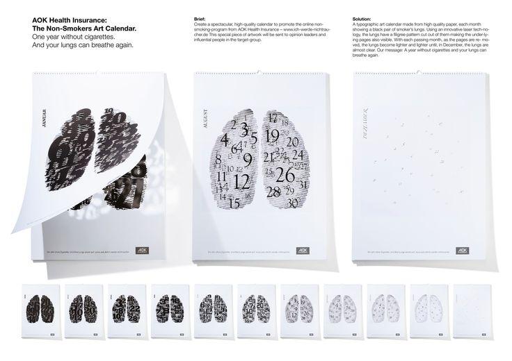 ★  AOK Health Insurance: The Non-Smokers-Art Calendar | Serviceplan
