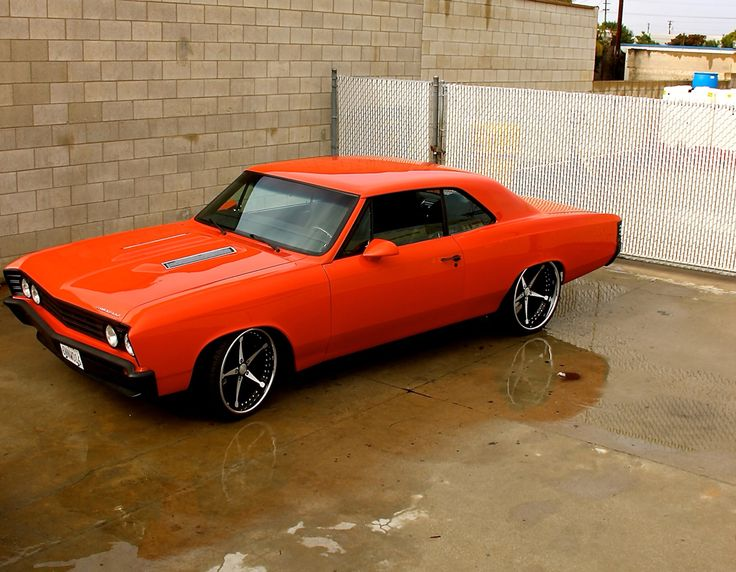 My 1967 Chevelle! Custom Forgiato wheels custom interior and custom color orange paint!