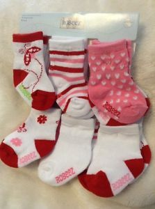 Robeez Girls Socks Kickproof Color Red Ladybug Size 0 6 6 12 12 24mo | eBay