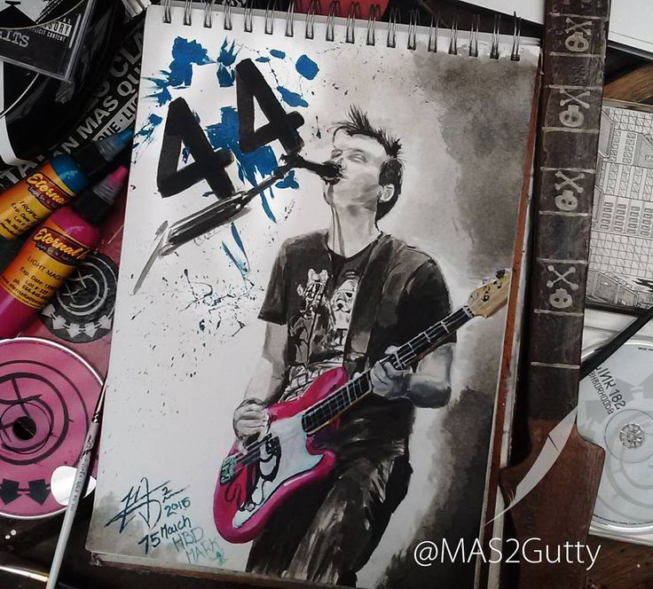 #HBDMark @markhoppus  What's your age again??? Mark Hoppus Chinesse ink + @eternalink / paper #artwork @blink182 @himynameismark @blink_182collection #blink182 #rock #music #lovethissong #guitar #bass #draw #art #artist #me #love #artoftheday #instaart #tattoos #instacool #ava #Markhoppus #instamusic @fenderguitar #newsong #like #life #throwback #mas2guttyarts #cool #pretty #loveit @blink_182collection @blink182memorabilia @blink182chile @blink182italia @blink182crew @tattooistartmag…