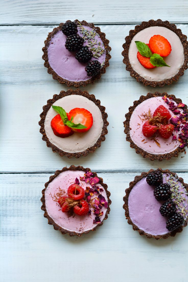 Seasonal Berry Mousse Tarts in support of the 'Be Berry Bright' campaign. Choose from blackberry and lavender, raspberry and rose, or strawberry and basil.