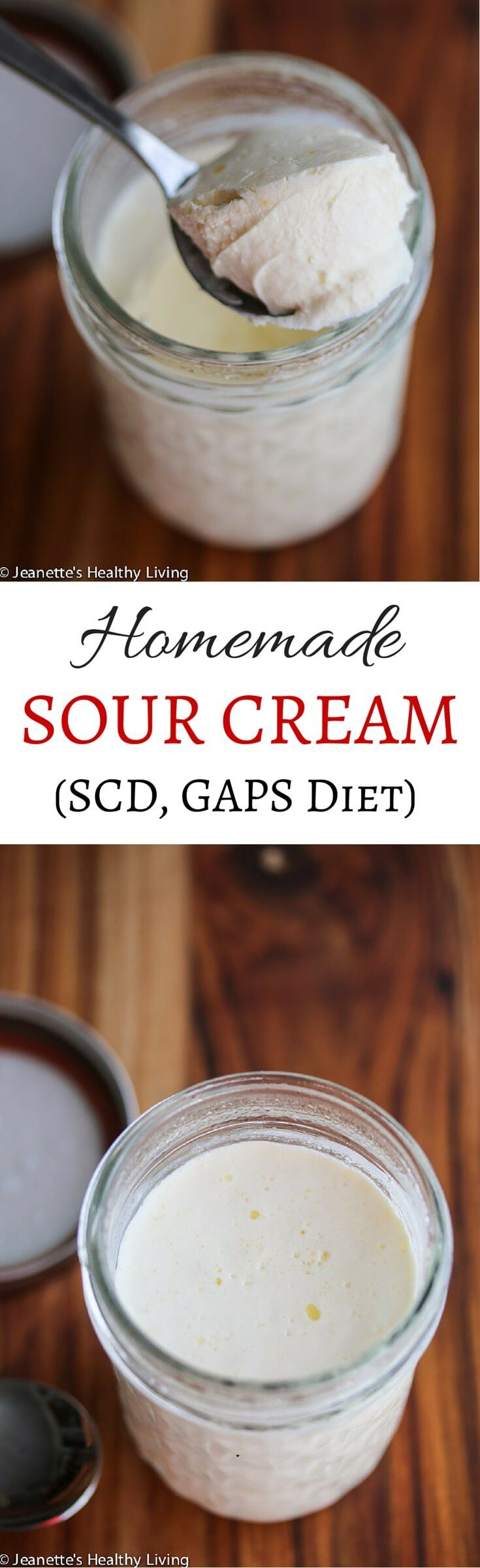 SCD GAPS Diet Sour Cream Creme Fraiche - this is naturally virtually lactose free and makes a decadent base for ice cream ~ http://jeanetteshealthyliving.com