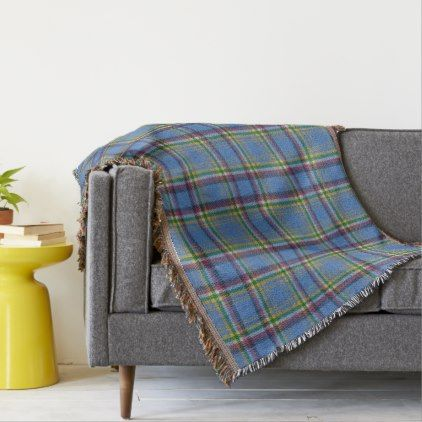 Yukon Territory Original Tartan Throw Blanket - pattern sample design template diy cyo customize