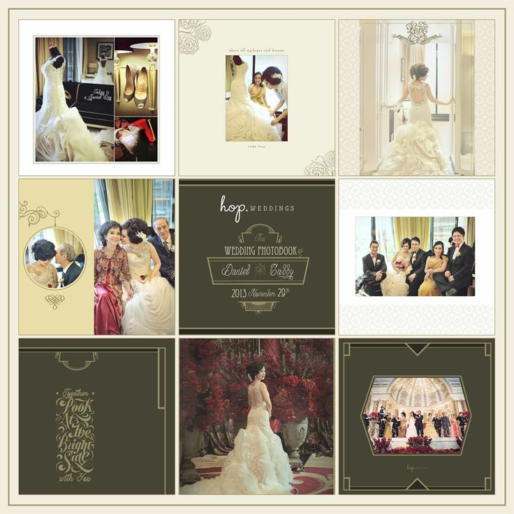 Daniel & Gabby Wedding Photobook Design, Modern Classic Theme, photo by HOP, edit & design by Wenny Lee