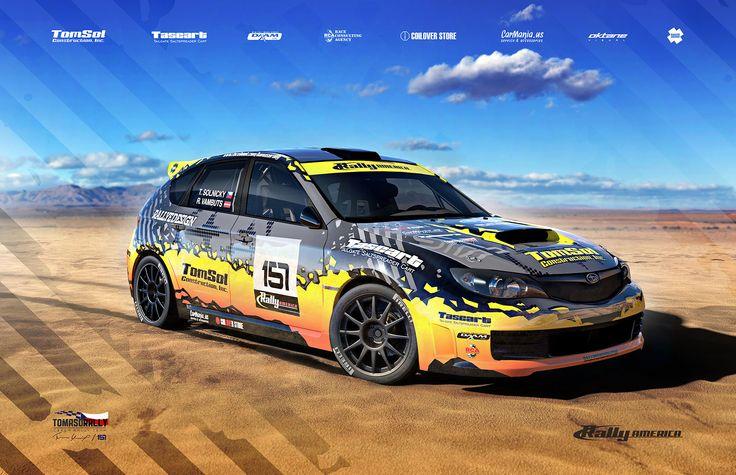 Tomaso Rally Team - T. Solnický - R. Vambuts (Subaru Impreza) - design for Rally America 2015 - poster.