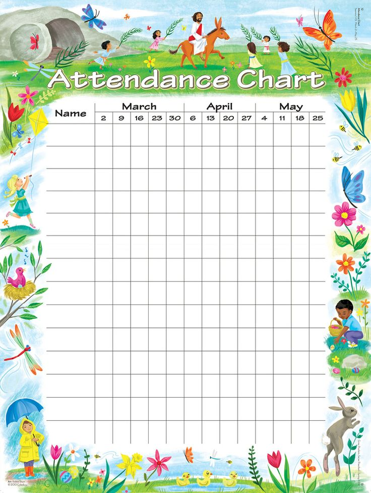 Best  Attendance Chart Ideas On   Attendance List