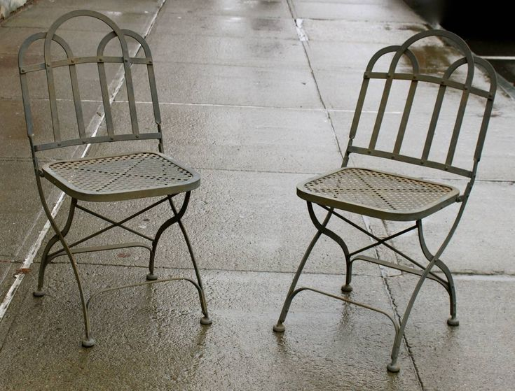 White Metal Folding Garden Chairs