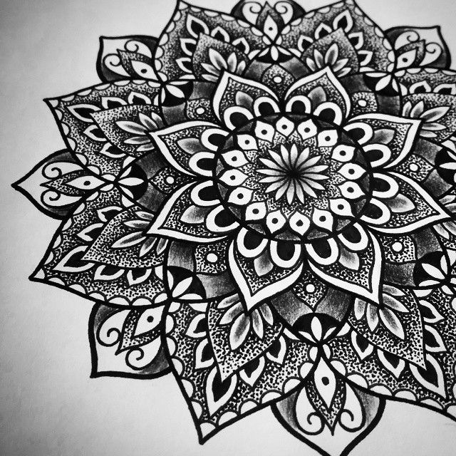 Another design by Siarn - Custom mandala all ready for tomorrow #mandala #dotwork #tattoodesigns