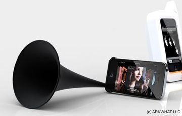 Cool acoustic speaker for iPhone4: Arkcanary II by ARKWHAT