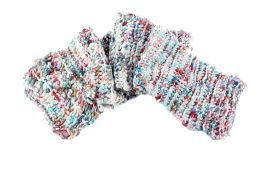 Lambswool Scarf Pastels - Made by Hand - Knitted