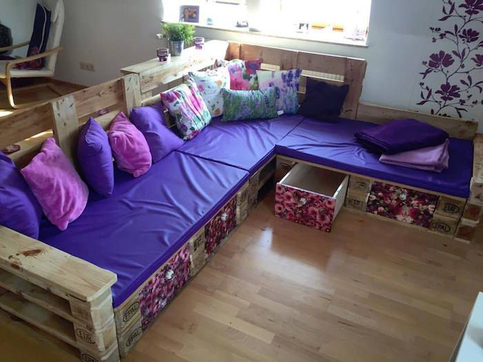 11 best Pallet Couches images on Pinterest Wooden pallets, Pallet