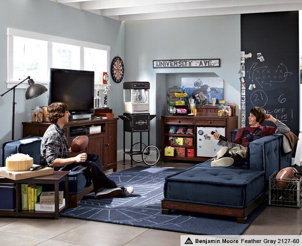 Pottery barn dorm boys lounge google search pb dorm pb teen boys pinterest boys - Boys basement bedroom ...