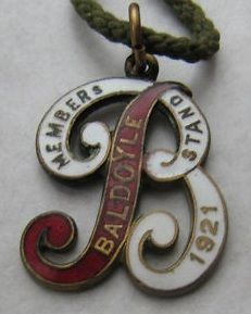 1921 Baldoyle race course annual badge (members' stand)