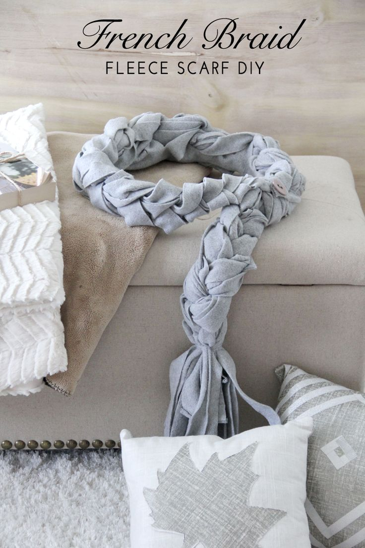 Cute and easy DIY project! This French Braid Scarf DIY is over at MeSewCrazy.com