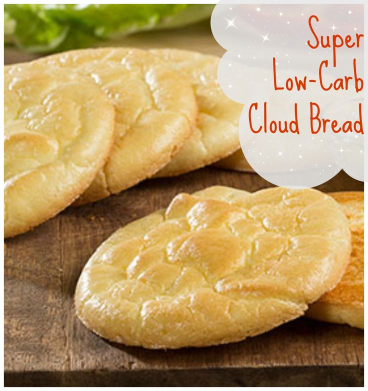 Cloud Bread: You would never guess you could make bread out of these 4-ingredients AND it has practically zero carbs! It's like miracle bread!