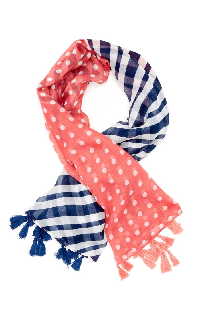 Cara Accessories | Cara Accessories Stripe & Polka Dot Scarf | Nordstrom Rack