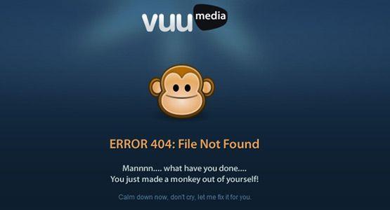 404 Error Page Design | http://www.vuu.com.au/