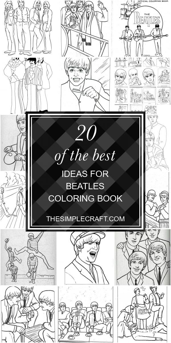 20 Of The Best Ideas For Beatles Coloring Book - Home Inspiration And Ideas  DI..., #Beatle... Coloring Books, Diy Crafts Quotes, Craft Quotes