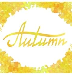 Yellow watercolor frame vector