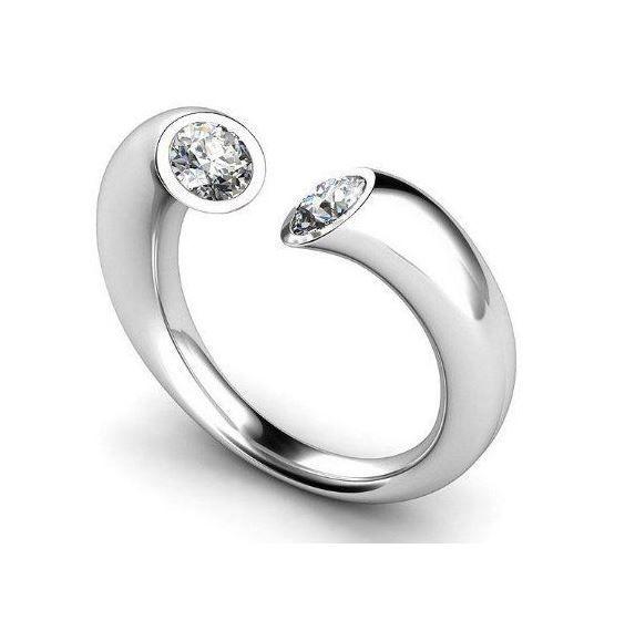 Diamantring 0.25 Karat aus 585er Weißgold  #diamantring #diamant #ring #weissgold #verlobungsring #brillant