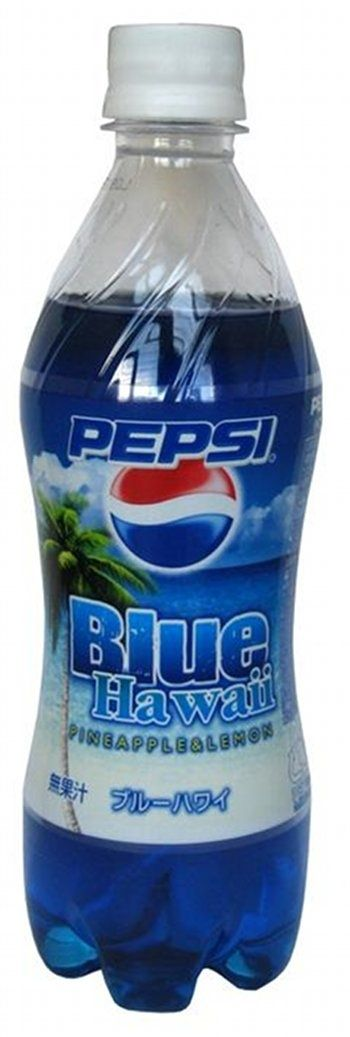 Pepsi Blue Hawaii - pineapple lemon flavored (Japan)  | 19 Pepsi Flavors You've Probably Never Heard Of