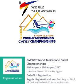 Το 3o Παγκόσμιο Πρωτάθλημα Ταεκβοντό Παίδων-Κορασίδων 2017 στην Αίγυπτο