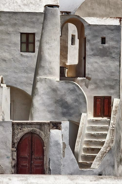 Beautiful Santorini.  Local Architecture meets Art in plain forms