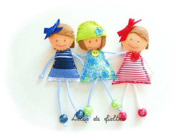 Ideas for felt & bead dolls :-)