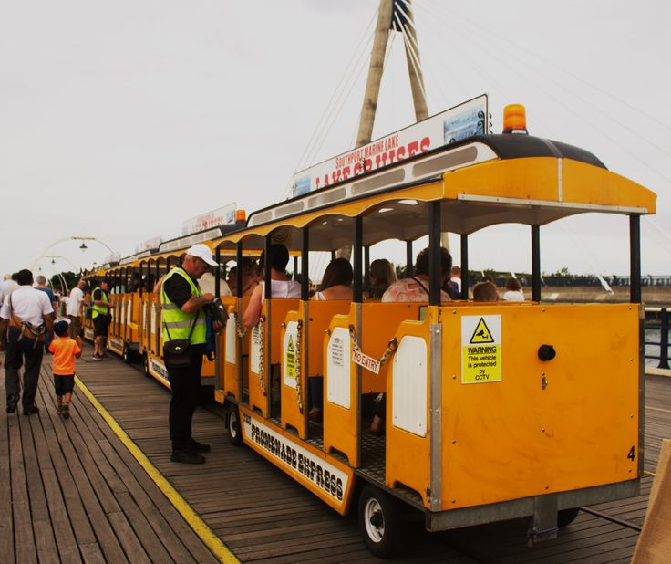 Hop on the tram and explore the Southport Pier