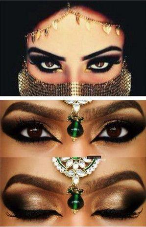 引き込まれそうな目ヂカラのアラビア風メイクで美しさを放って