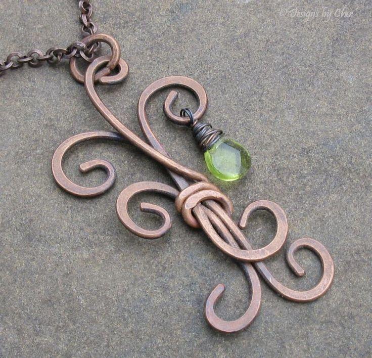 Antiqued Copper Metalwork Tree Pendant, Adjustable Necklace... The Last Leaf. $38.00, via Etsy.