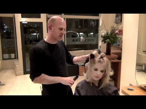 How to Blow Dry, for messy volume - Hairdressing Training - YouTube