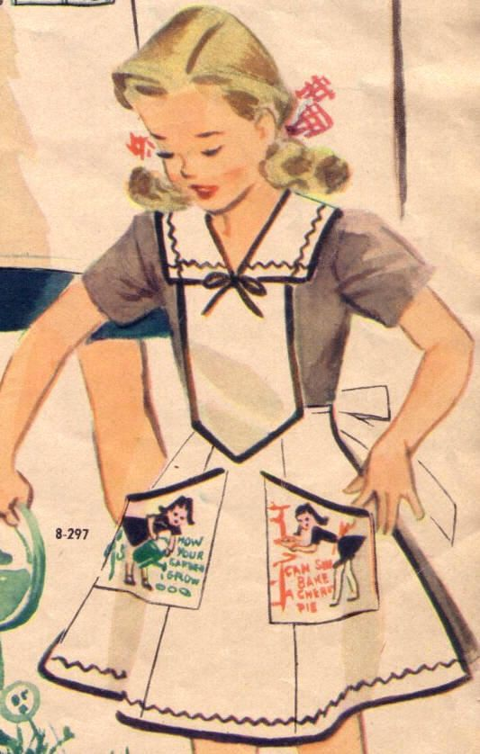 Girl Scout Aprons 1943 - 1944 by vintage girlscout online museum