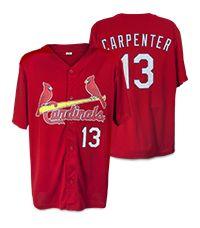 St Louis Cardinals Adult Replica Matt Carpenter Batting Practice Jersey 7-2-2016