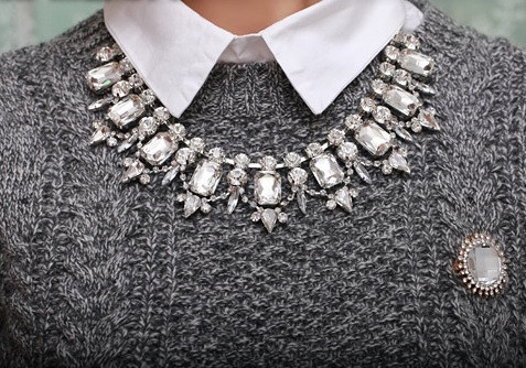 BUY HERE: http://www.glamzelle.com/collections/jewelry/products/crystal-gems-collar-necklace