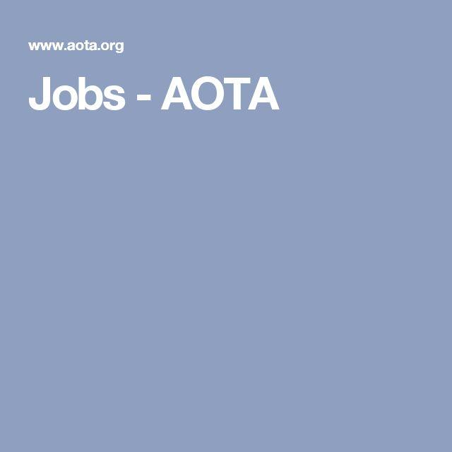 Jobs - AOTA