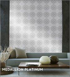 Beyond Off Tempaper Designs Medallion Self Adhesive Temporary Wallpaper Platinum