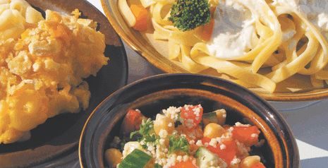 """WP 4 PASTA: BUTTER Bread Crumbs; Dad's Favourite Baked MACARONI; Creamy Chicken FETTUCCINI; North African COUSCOUS Salad. """"Celebrate World Pasta Day."""" Recipe. ~ The Western Producer"""