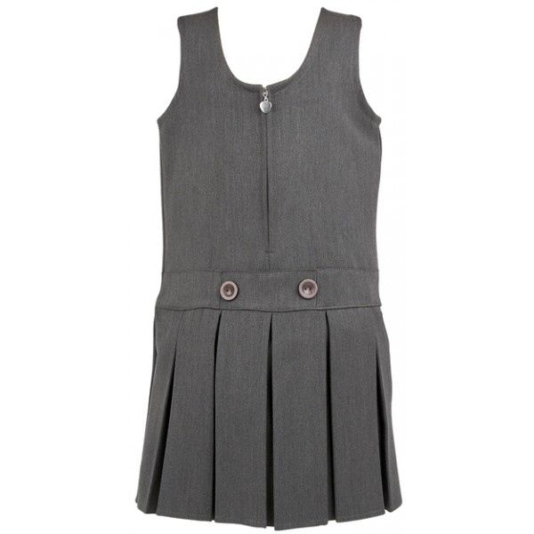 BOX PLEAT ZIPPER PINAFORE