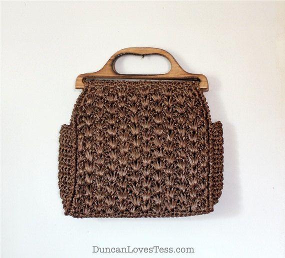 Raffia Bag / 1960s Straw Purse / Vintage by DuncanLovesTess, $38.00