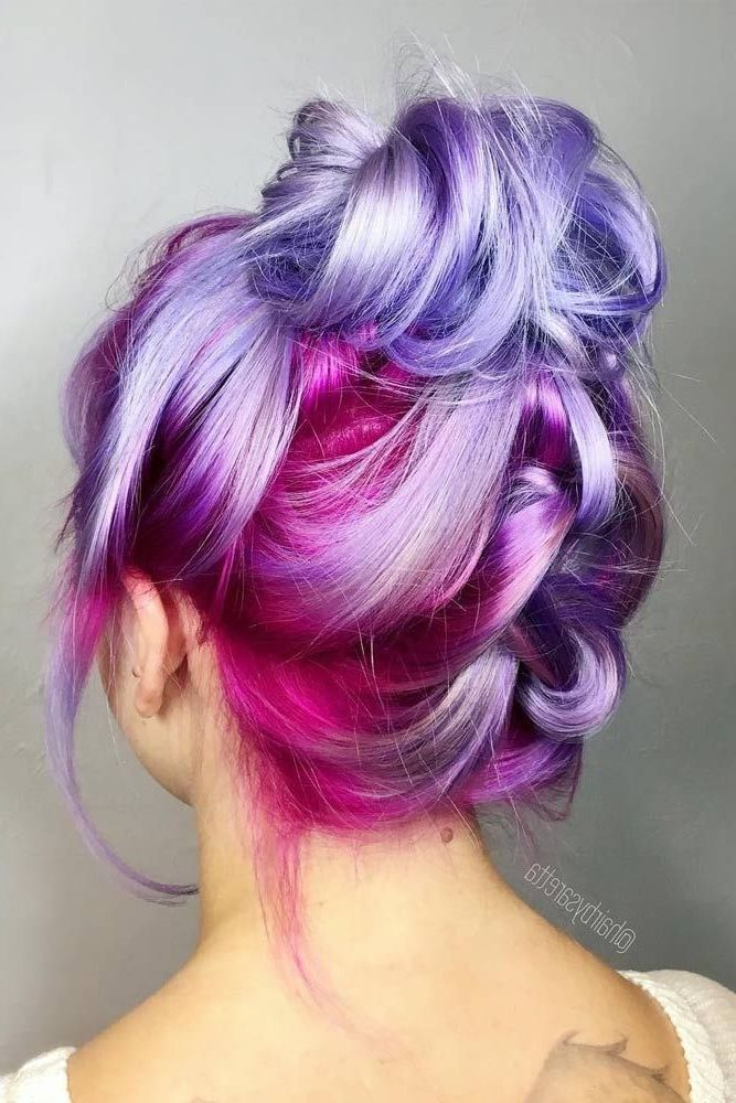 37 Short Pastel Hair Color Ideas To Refresh Your Casual Look Short Pastel Hair Color Ideas These Hair Styles Cute Hairstyles For Short Hair Unicorn Hair Color
