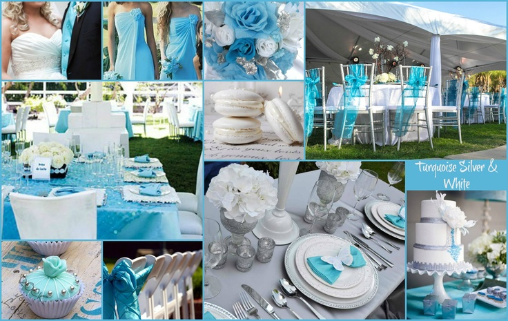 Wall Colour Inspiration: TURQUOISE WHITE & SILVER WEDDING Inspiration