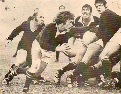 '76 - First test - The McLook rugby collection Paul Bayvel breaking away for Edrich