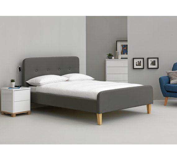 Buy Argos Home Aydin Kingsize Bed Frame Grey Bed Frames Grey