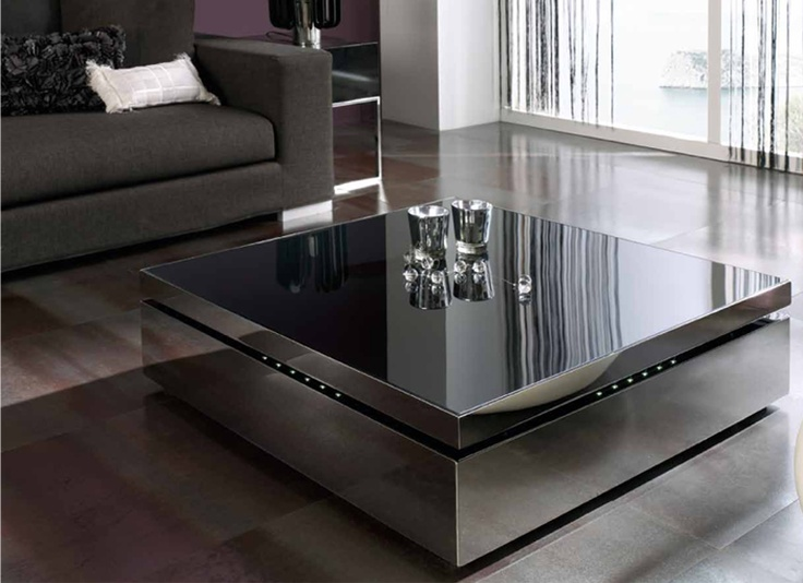 Espectacular Mesa De Centro Cuadrada Elevable En Acero Inoxidable Con Luces  Leds. RavesCoffee TablesIdeas ParaLedDesignerLiving RoomFurniture ...